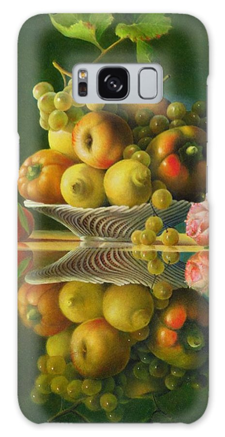 Still Life Galaxy S8 Case featuring the painting Still Life With A Rose by Giuseppe Mariotti