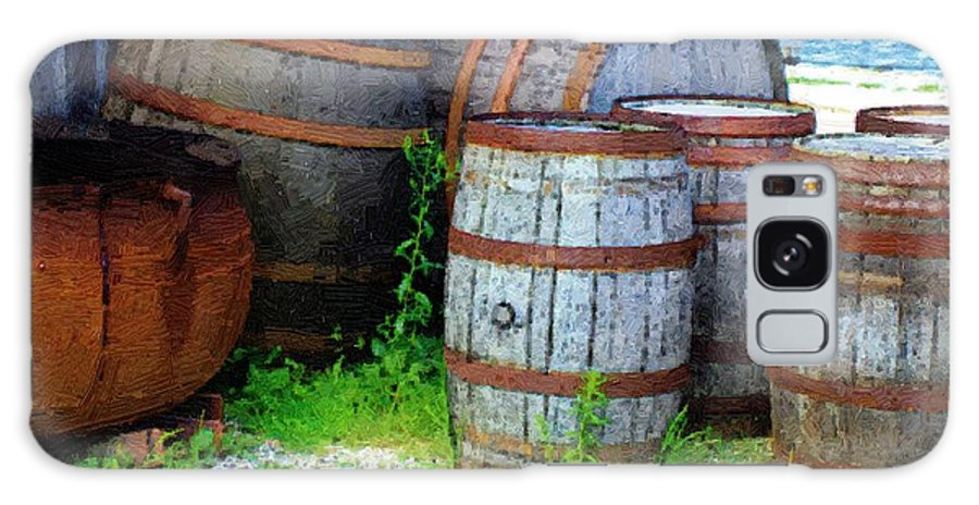 Antique Galaxy S8 Case featuring the painting Still Life With Barrels by RC DeWinter