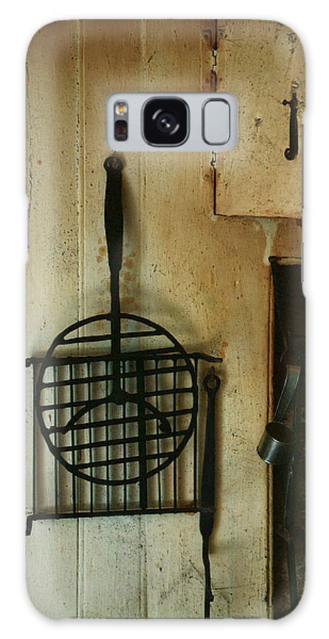 Still Life Galaxy S8 Case featuring the painting Still Life With Hearth Tools by RC DeWinter