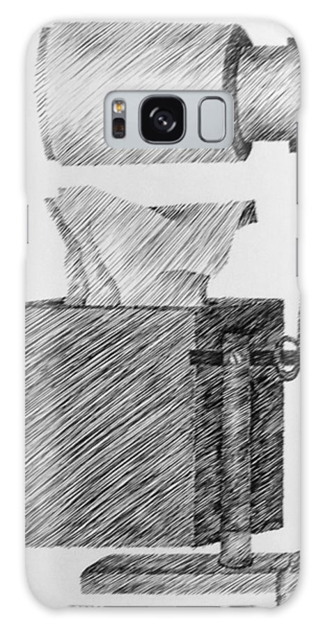 Still Life Galaxy Case featuring the drawing Still Life With Lamp And Tissues by Michelle Calkins