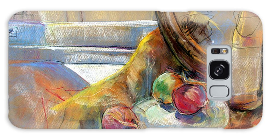 Pastel Painting Galaxy S8 Case featuring the painting Still Life With Onions by Daun Soden-Greene