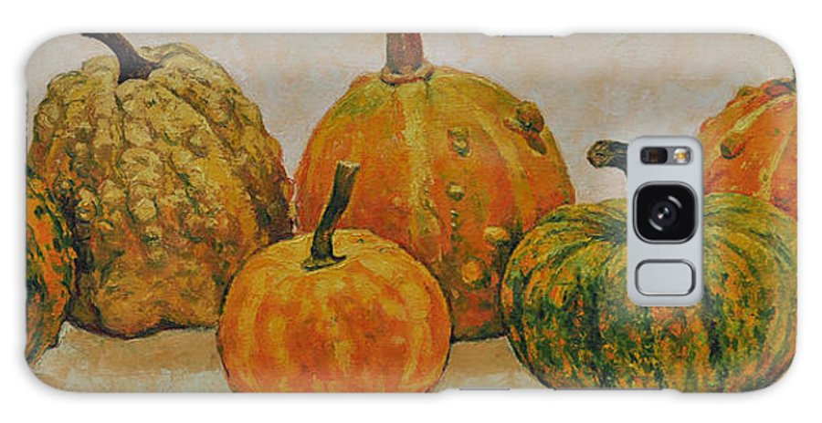Still Life Galaxy Case featuring the painting Still Life With Pumpkins by Iliyan Bozhanov