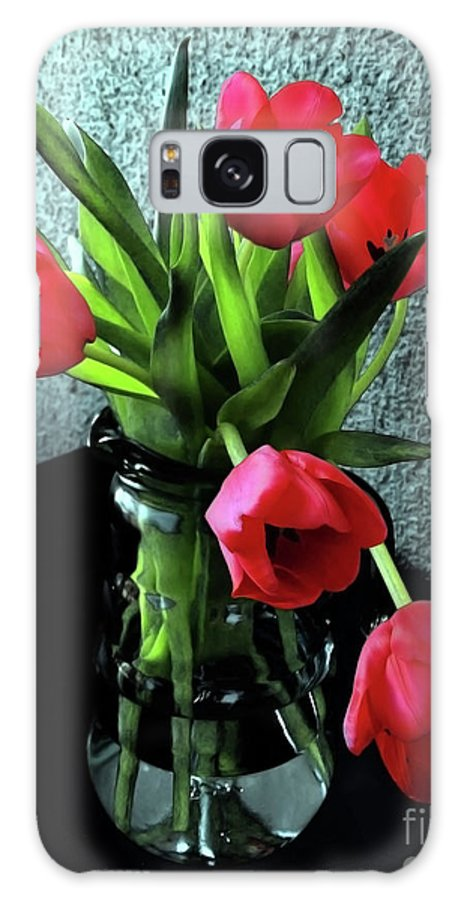 Tulips Galaxy S8 Case featuring the photograph Still Life With Tulips by Jasna Dragun
