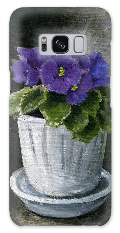 Still Life Galaxy S8 Case featuring the painting Still Life With Violet by Lelia Sorokina