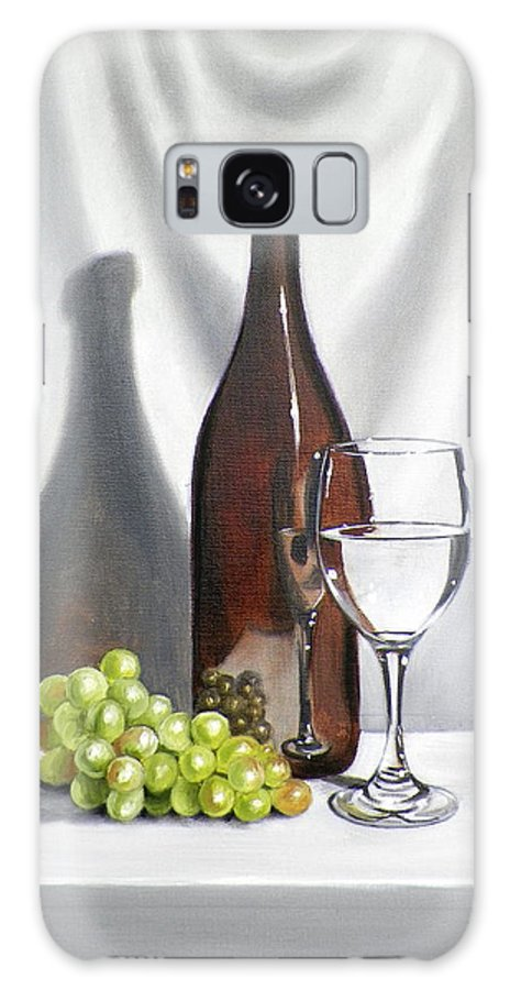 Art Galaxy Case featuring the painting Still Life with White Wine by RB McGrath