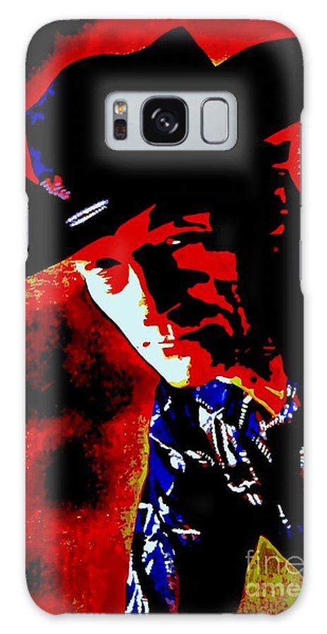 Musician Galaxy S8 Case featuring the painting Stompin' Tom by Holger Majorahn