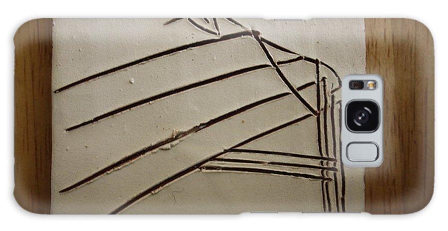 Jesus Galaxy S8 Case featuring the ceramic art Stone - Tile by Gloria Ssali