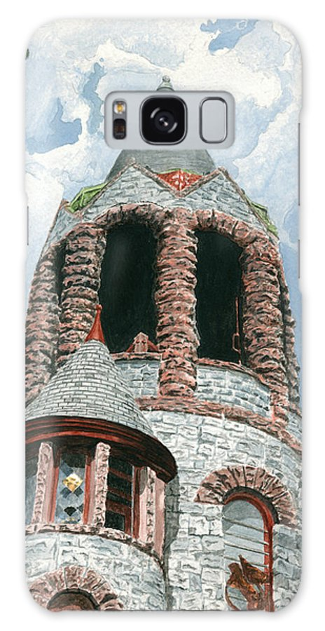 Church Galaxy Case featuring the painting Stone Church Bell Tower by Dominic White