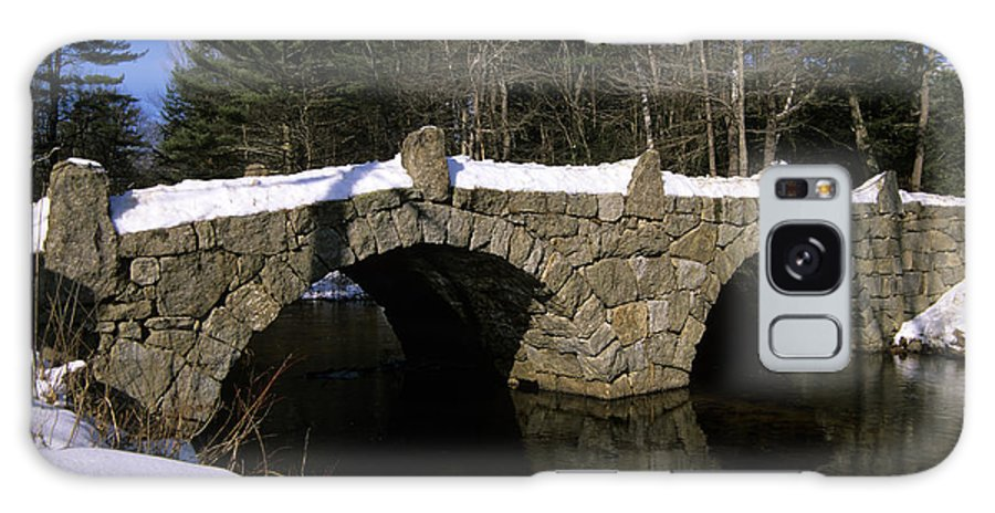 Bridge Galaxy S8 Case featuring the photograph Stone Double Arched Bridge - Hillsborough New Hampshire Usa by Erin Paul Donovan