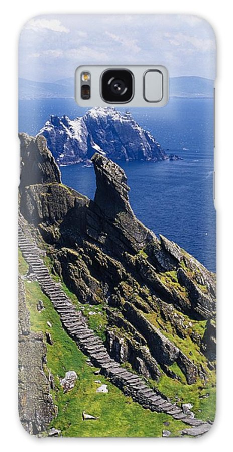 Coastal Galaxy S8 Case featuring the photograph Stone Stairway, Skellig Michael by Gareth McCormack