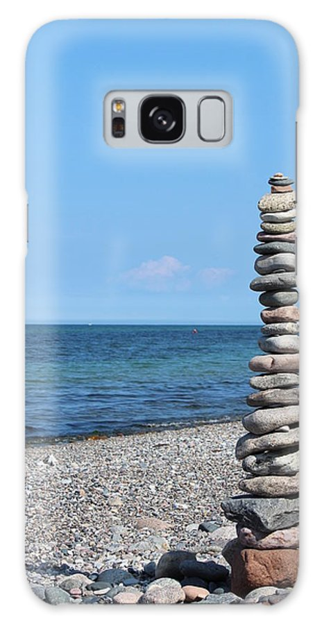 Blue Sky Galaxy S8 Case featuring the photograph Stone Towers by Heike Hultsch