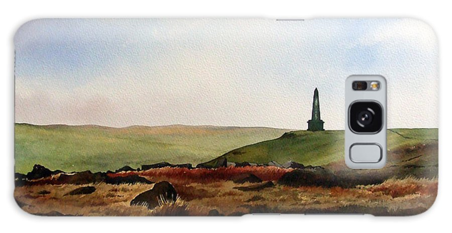 Landscape Galaxy Case featuring the painting Stoodley Pike by Paul Dene Marlor