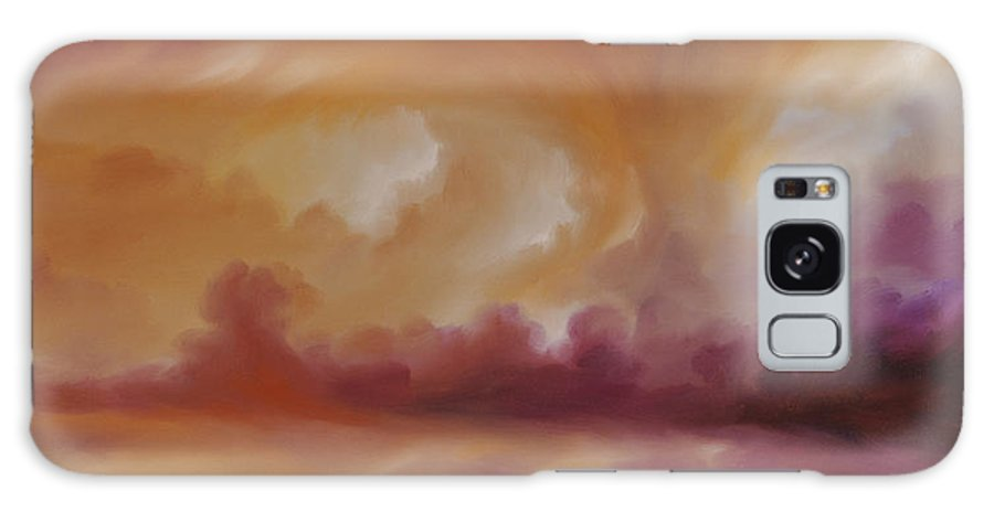 Tempest Galaxy Case featuring the painting Storm Clouds 2 by James Christopher Hill