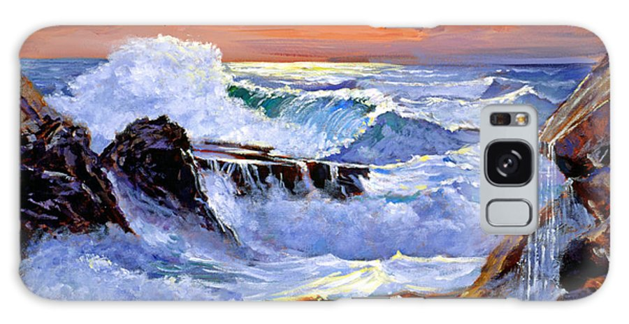 Waves Galaxy S8 Case featuring the painting Storm On The Irish Coast by David Lloyd Glover