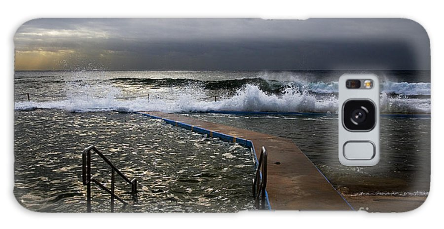 Storm Clouds Collaroy Beach Australia Galaxy S8 Case featuring the photograph Stormy Morning At Collaroy by Sheila Smart Fine Art Photography