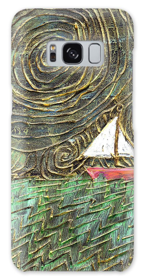 Storm Galaxy S8 Case featuring the painting Stormy Night by Wayne Potrafka