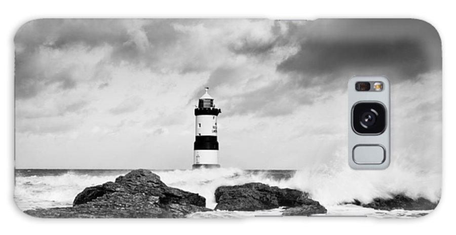 Christinesmart Galaxy S8 Case featuring the photograph Stormy Seas Black And White by Christine Smart