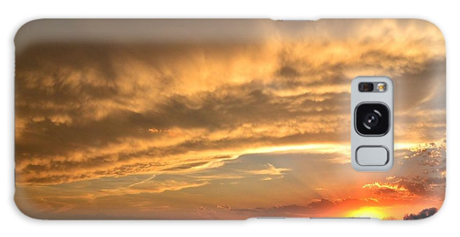 Sunset Galaxy S8 Case featuring the photograph Stormy Skies by Mandy Frank