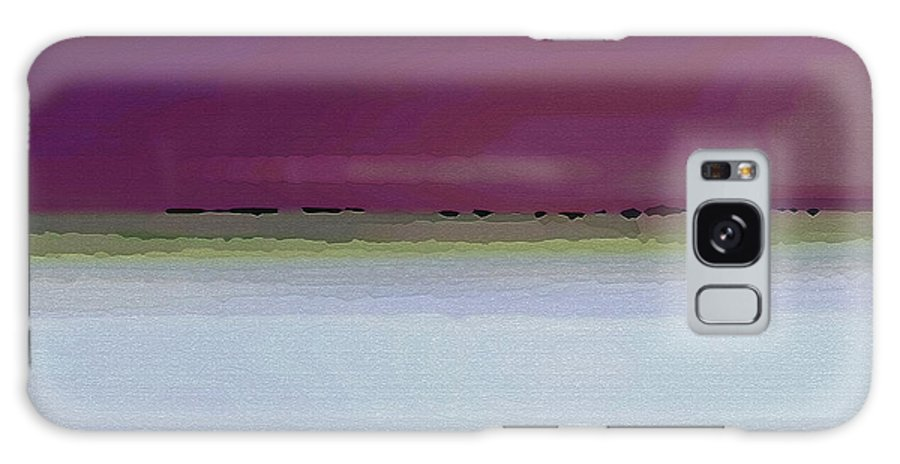 Abstract Galaxy Case featuring the digital art Straight Across by Ruth Palmer