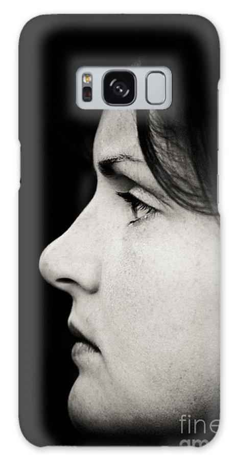 Black And White Galaxy S8 Case featuring the photograph Straight Ahead by Gabriela Insuratelu