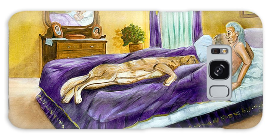 Bed Galaxy S8 Case featuring the painting Strange Bedfellows by Dorothy Riley