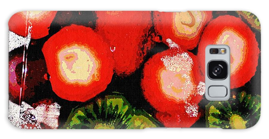 Strawberry Galaxy S8 Case featuring the digital art Strawberries And Kiwi by Sarah Loft