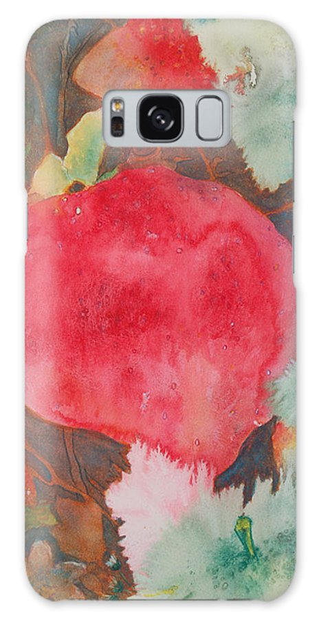 Strawberry Field Galaxy S8 Case featuring the painting Strawberry Field by Henny Dagenais