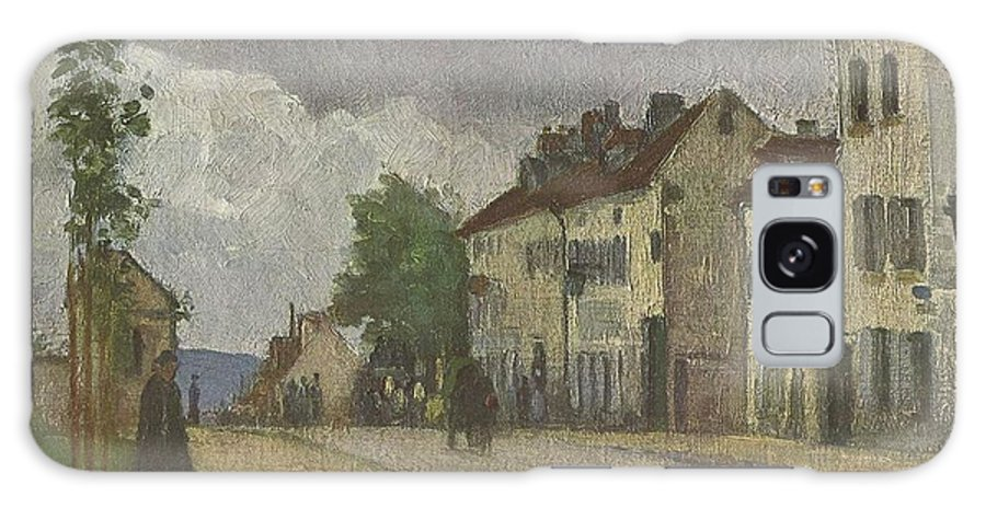 Street In Pontoise Straße In Pontoise Camille Pissarro Galaxy S8 Case featuring the painting Street In Pontoise Strabe In Pontoise Camille Pissarro by MotionAge Designs