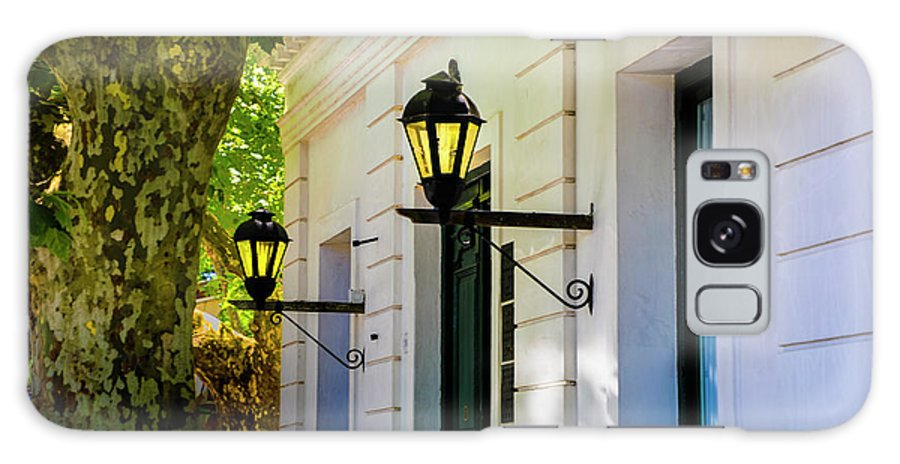 Colonia Architecture Very Old Lights Galaxy S8 Case featuring the photograph Street Kights Colonia by Rick Bragan