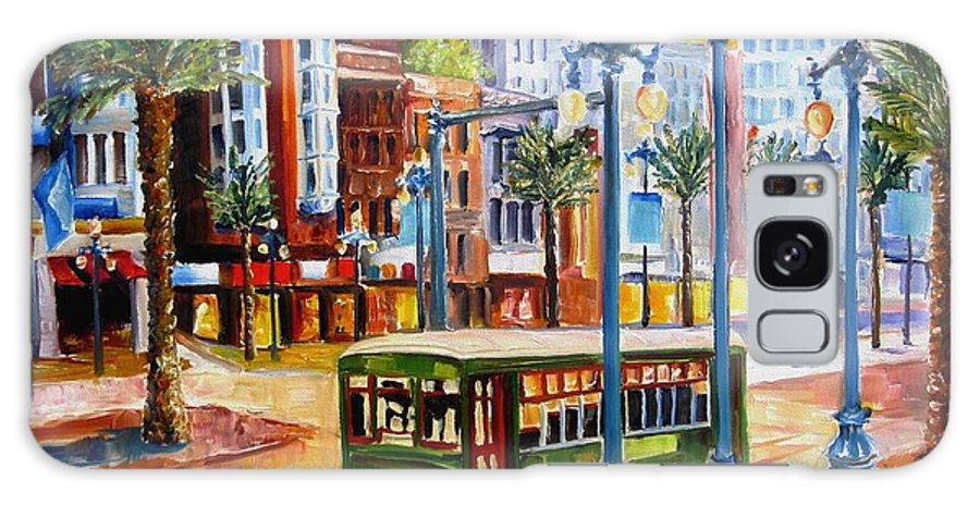 New Orleans Paintings Galaxy S8 Case featuring the painting Streetcar On Canal Street by Diane Millsap