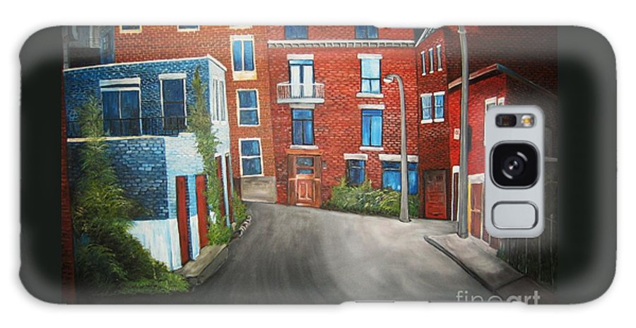 Montreal Galaxy S8 Case featuring the painting Streets Of Montreal Joly by Reb Frost