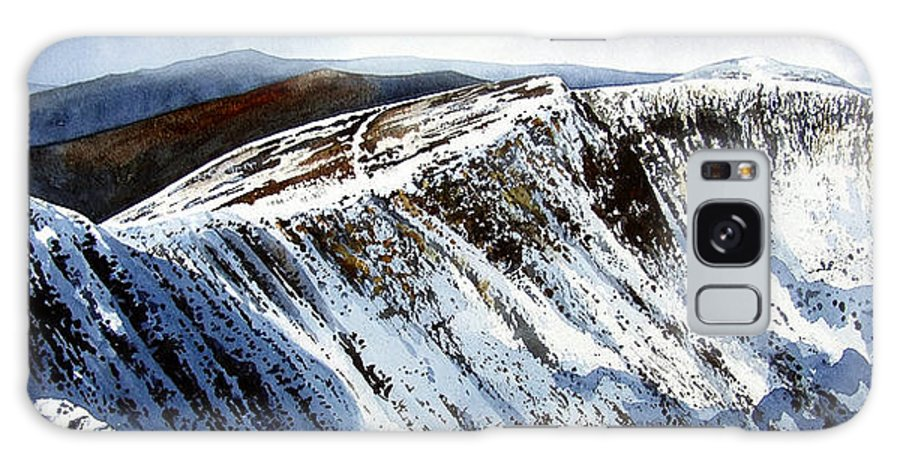 Helvellin Galaxy Case featuring the painting Striding Edge Leading To Helvellin Sumit by Paul Dene Marlor