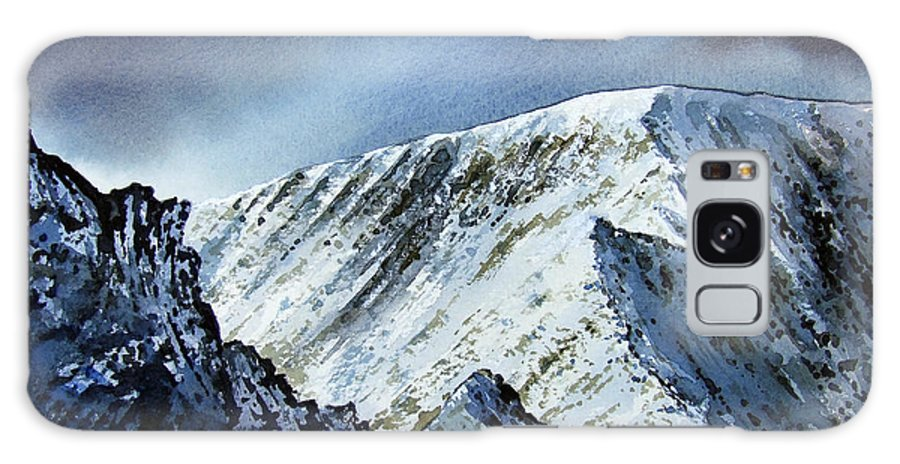 Mountain Galaxy Case featuring the painting Striding Edge On Helvellin by Paul Dene Marlor