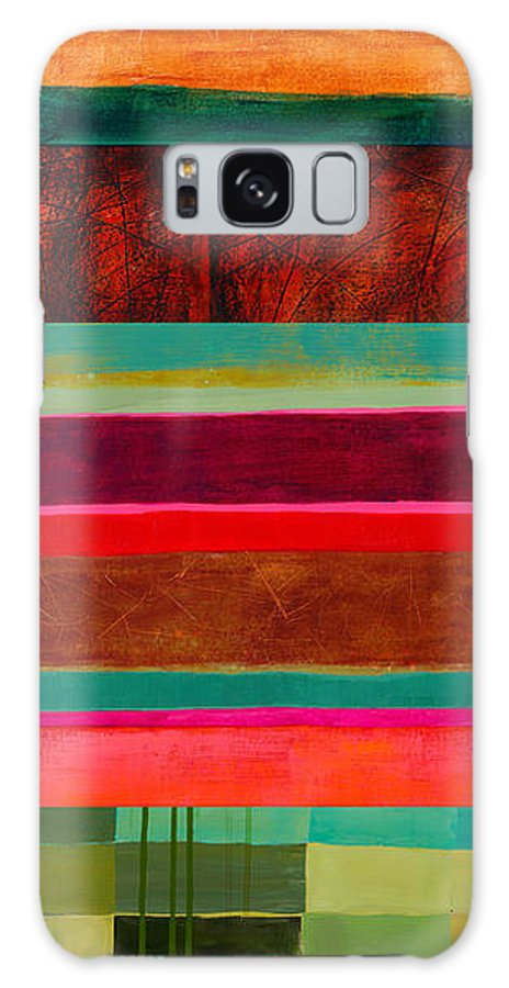 Abstract Art Galaxy S8 Case featuring the painting Stripe Assemblage 1 by Jane Davies