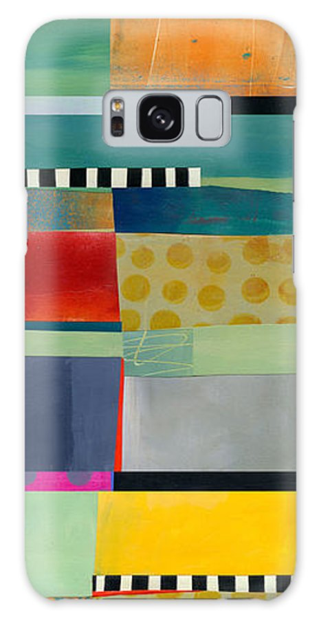 Abstract Art Galaxy Case featuring the painting Stripe Assemblage 2 by Jane Davies