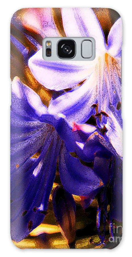 Floral Galaxy S8 Case featuring the photograph Striped In Blue by Linda Shafer