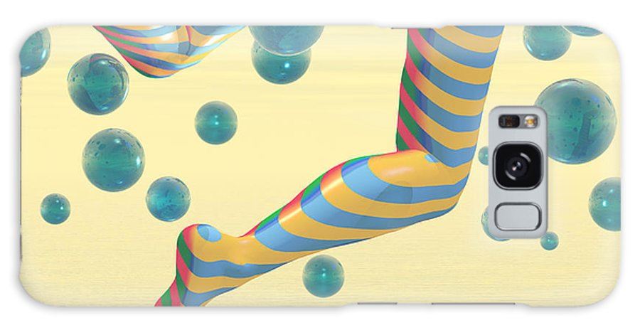 Bubbles Galaxy S8 Case featuring the digital art Striped Stockings by Carol and Mike Werner