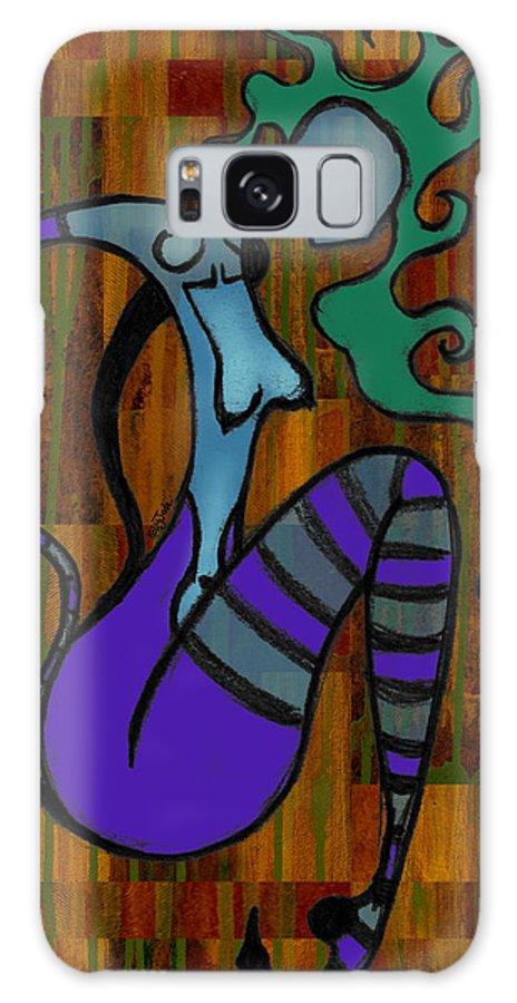 Stripes Galaxy Case featuring the digital art Stripes by Kelly Jade King