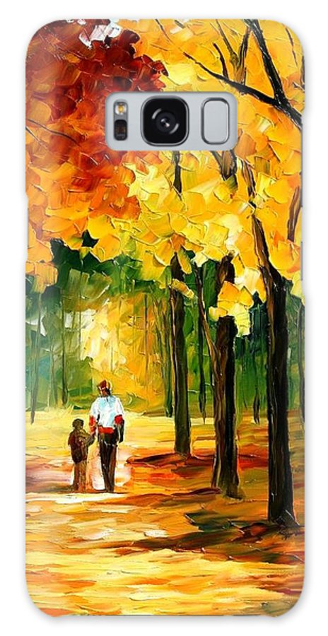 Afremov Galaxy S8 Case featuring the painting Stroll In The Forest by Leonid Afremov