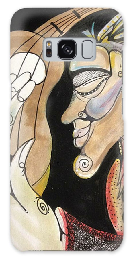 Guitar Player Galaxy S8 Case featuring the painting Strumming To The Beat by Markel Lee