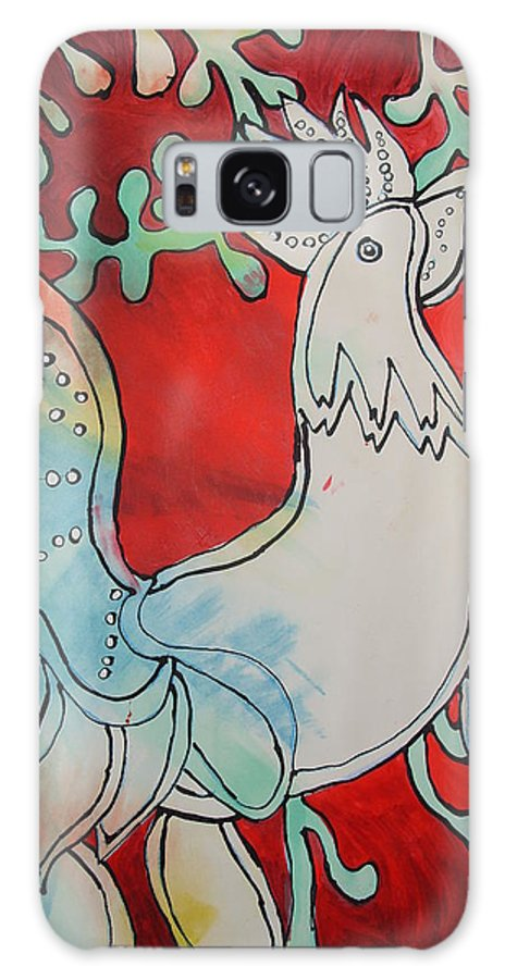 Bird Galaxy S8 Case featuring the painting Strut Your Stuff by Crystal N Puckett