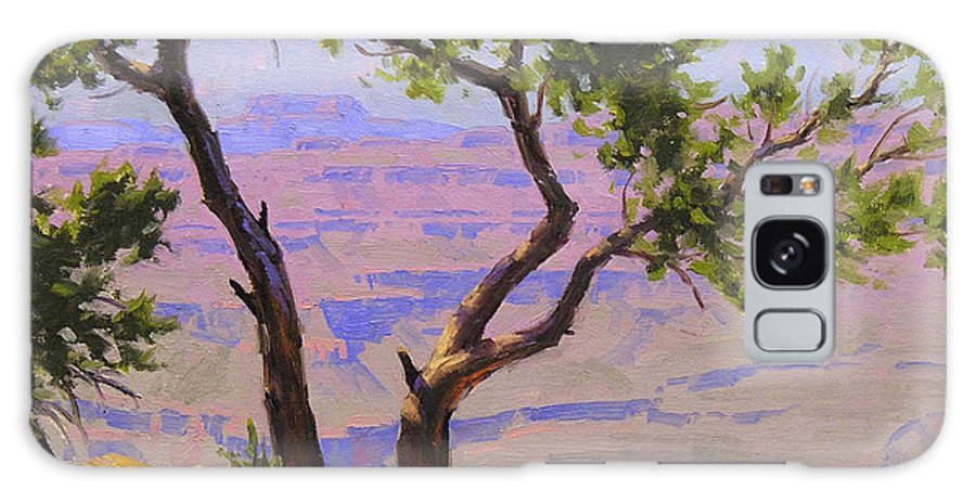 Grand Canyon Galaxy S8 Case featuring the painting Study For Canyon Portal by Cody DeLong