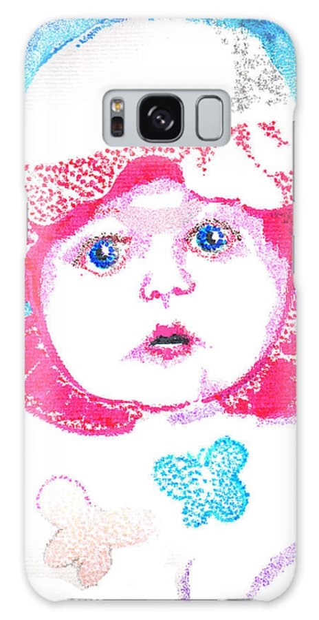 Baby Galaxy S8 Case featuring the digital art Study In Blue And Pink by Seth Weaver