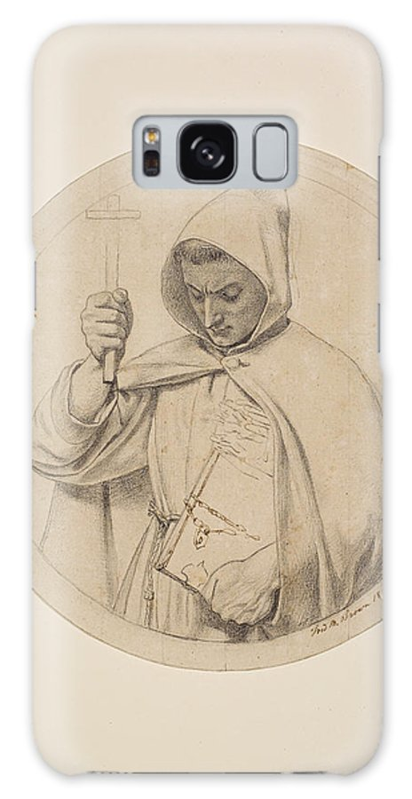 Ford Madox Brown Galaxy S8 Case featuring the drawing Study Of Monk Representing The Catholic Faith by Ford Madox Brown