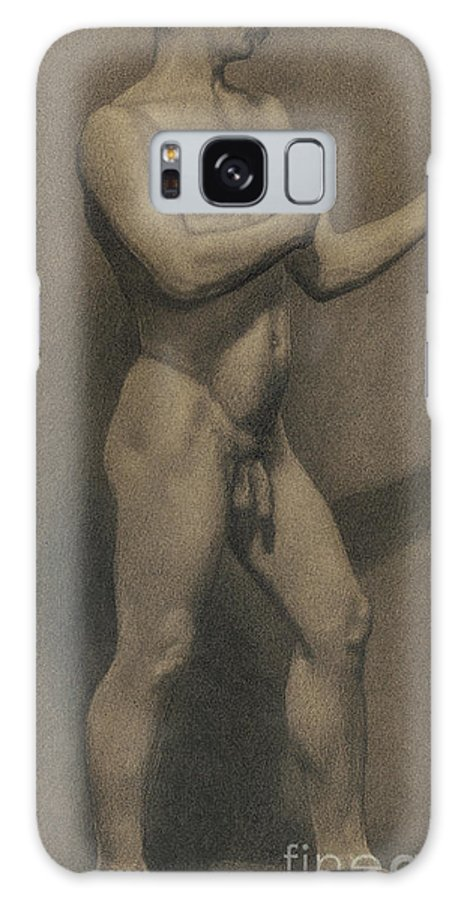 Theodore Robinson Galaxy S8 Case featuring the drawing Study Of The Male Figure, 1875 by Theodore Robinson