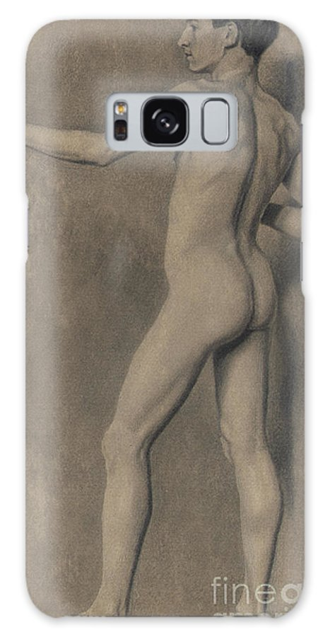 Theodore Robinson Galaxy S8 Case featuring the drawing Study Of The Male Figure by Theodore Robinson