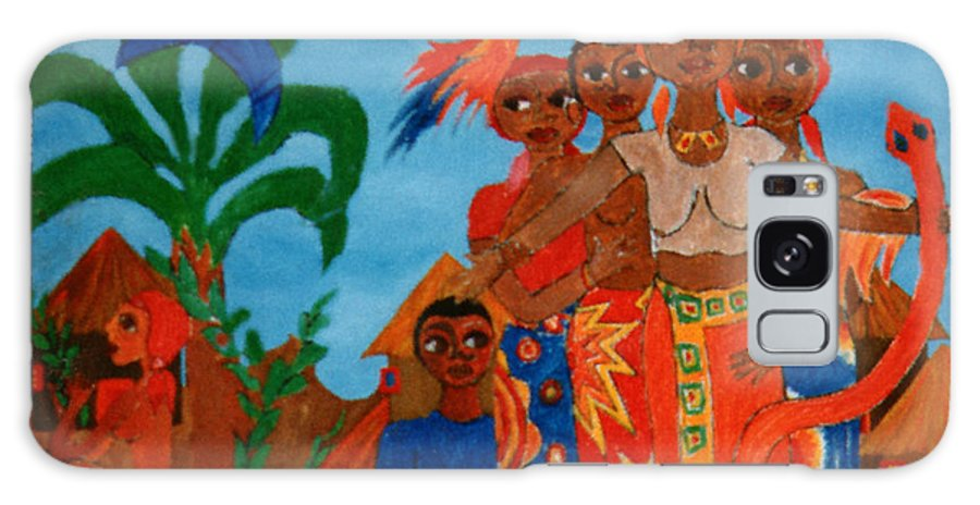 Study Galaxy Case featuring the painting Study To Motherland A Place Of Exile by Madalena Lobao-Tello