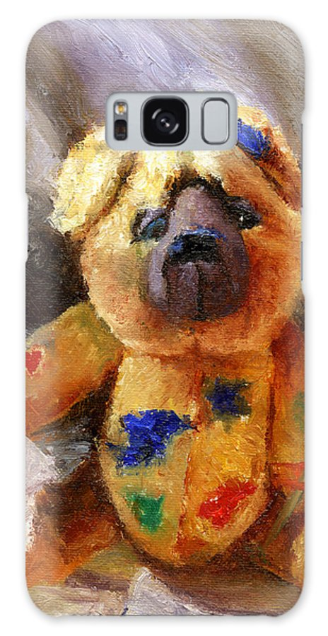 Teddy Bear Art Galaxy S8 Case featuring the painting Stuffed With Luv by Chris Neil Smith