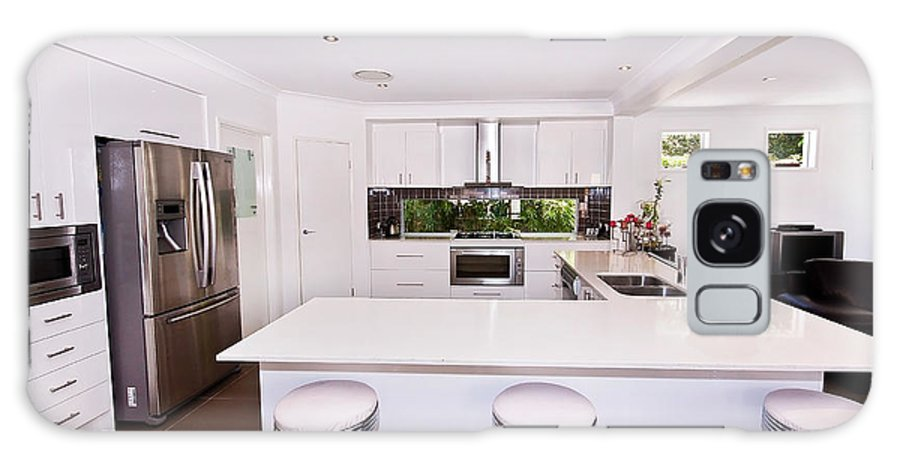 Stylish Galaxy S8 Case featuring the photograph Stylish Modern Kitchen by Darren Burton