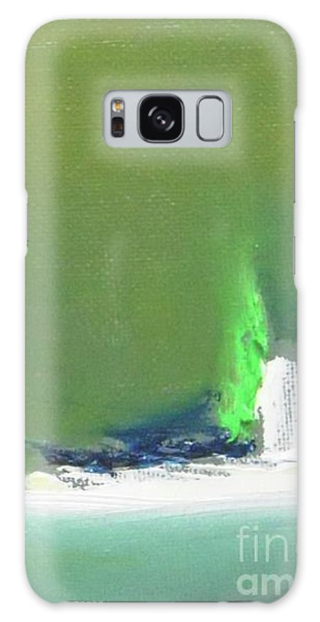 Abstract Galaxy S8 Case featuring the painting Submarine by Vesna Antic